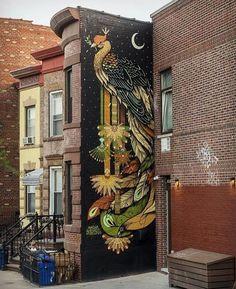 Wall Mural, NYC                                                                                                                                                                                 More Art Mural 3d, Grand Art Mural, Graffiti Murals, Wall Murals, Graffiti Cartoons, Graffiti Wallpaper, Graffiti Painting, Graffiti Artists, Graffiti Lettering