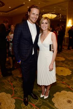 So many photos, so little time. Sam Heughan–my hot boyfriend from Outlander–look super sexy at the BAFTA tea party. You KNOW that Joanne Froggatt is excited to be taking a picture with him. I'm excited she's taking a picture with him! Ed Westwick looked fabulous and fashionable at the Art of Elysium event. Again, Ed is doing what I told him he should do: go to red carpet events and wear funky things.  And finally, Ian Somerhalder and Nikki Reed were quite lovey at the Weinstein and Netflix…