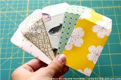 DYI Easy Tine Envelopes. Poppytalk: Our 10 Most Popular DIY's for 2011 [www.poppytalk.blogspot.com]
