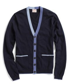 Cotton and Wool Button-Front Cardigan