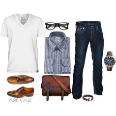 Men's Fashion by keri-cruz on Polyvore featuring Michael Kors, Hurley and True Religion