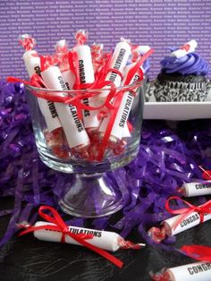 congratulations - covered smarties - take home favor graduation gift