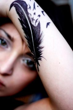 Cute Feather Tattoo Designs for Girls