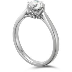 Gorgeous Copley Solitaire Engagement Ring. Set apart by an intricate gallery featuring the beautiful Copley heart.  Compliments a number of  Hearts On Fire diamond wedding bands.  www.facebook.com/lolomajewellers