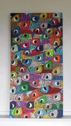 Tableau Sardine of marseille l original par Sardo Marsiho  patchwork organisé 100×50cm Fabric Fish, Crab Art, Beginner Painting, Fish Print, Collaborative Art, Ink Illustrations, Aboriginal Art, Ribe, Art Festival