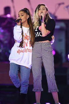 Miley Cyrus. Ariana Grande.