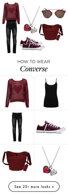 """Love Bites"" by lelu2012 on Polyvore featuring M&Co, Converse, Baccarat, Marc by Marc Jacobs, Christian Dior, women's clothing, women, female, woman and misses"