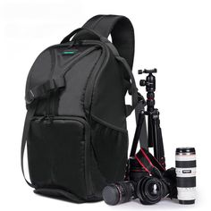 Sale 15% (34.99$) - Outdoor Nylon Camera Backapack Rucksack Shoulder Case Bag For DSLR Camera Camping Travel