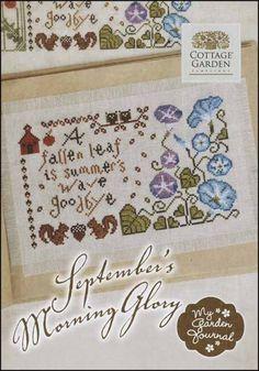 September's Morning Glory - Cross Stitch Pattern  by Cottage Garden Samplings
