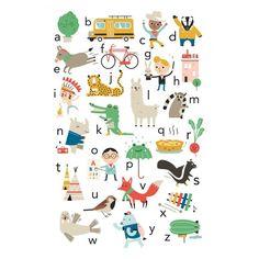 Wat een super leuke ABC poster ontworpen door studio Makii. Met allerlei grappige afbeeldingen in een prachtigkleurpallet. De A van Artisjok, de Q van Quich en de U van mUs.De poster wordt gedrukt op 200 grams papier.Merk: PSikhouvanjou Materiaal: papier Afmeting: 50 x 70 cm
