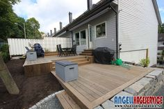 Bygge Terrasse Kebony 24 Outside Stairs, Deck, Outdoors, Gardening, Patio, Outdoor Decor, Home Decor, Privacy Screens, Decoration Home