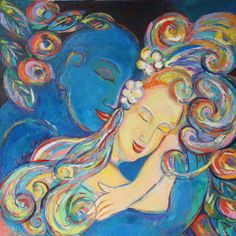 Lovers sleeping. Marc Chagall
