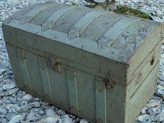 want this!! Antique Camel Back Dome Top Steamer Trunk Quilt Chest Blanket Box Fanc Victorian | eBay