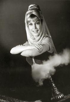 Barbara Eden- I Dream of Jeannie black & white