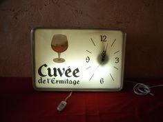 Horloge bière Cuvée de l'ermitage. Brasserie Vintage. Old bar pendulum advertising clock . Belgique. de la boutique OldAntiqueFrance sur Etsy