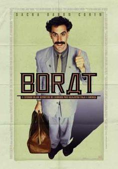 [b] BR BR[ Borat ] BR BR BRDireccin:[/b] Larry Charles. BR[b]Pas:[/b] USA. BR[b]Ao: [/b]2006. BR[b]Duracin: [/b]84 min. BR[b]Gnero: [/b]Comedia. BR[b]Interpretacin:[/b] Sacha Baron Cohen (Borat), Ken Davitian (Azamat). BR[b]Guin: [/b]Sacha Baron Cohen, Anthony Hines, Peter Baynham y Dan Mazer; basado en un argumento de Sacha Baron Cohen, Peter Baynham, A