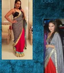 Buy Bollywood actress sonakshi sinha inspired party wear designer saree sonakshi-sinha-saree online