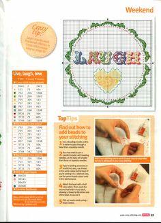 Free Live Laugh Love 2/2 cross stitch pattern #stitching
