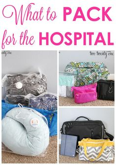 GREAT tips on what to pack for the hospital when having a baby!