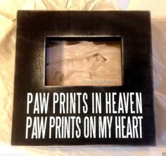 Primitives By Kathy Box Photo Frame Paw Prints in Heaven,Paw Prints on Heart NEW #PrimitivesByKathy #RusticPrimitive