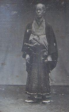 日本最古の写真。田中光儀像1854年撮影