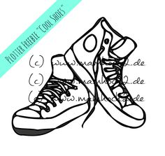 kostenfreie Plotter Datei cool Shoes
