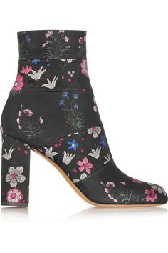 Valentino|Spring Garden brocade ankle boots|NET-A-PORTER.COM
