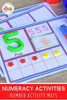 Use these 1-20 number activity mats to help your kids in preschool, pre-k and kindergarten Numeracy Activities, Small Group Activities, Number Activities, Counting Activities, Kindergarten Curriculum, Preschool Math, Fun Math, Early Math, Early Learning