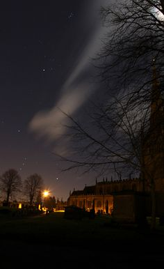 Orions Belt, Hyades and Pleiades above St Johns Parish Church