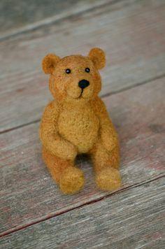 Bear Needle Felting Kit DIY craft learn how by BearCreekDesign