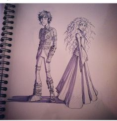 Merida and Hiccup all grown up. aaaawwwwwwwwwwwweee!