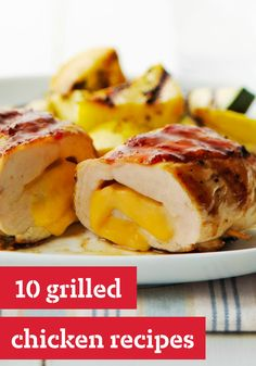 10 Grilled Chicken Recipes -- This collection is a celebration of all grilled chicken recipes--from sweet and sticky BBQ chicken and kabob recipes to grilled chicken served in summer salads and sandwiches.