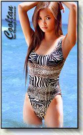 Safari tan through swimsuit