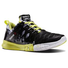 Reebok Womens LM ZRX TR Studio Dance Shoes Black  High Vis Green  White  Red Size 11 ** Click on the image for additional details.