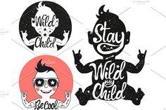 Wild Child Vector Set by julymilks on @creativemarket
