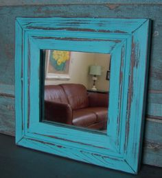 Bright turquoise + rustic look = I like!