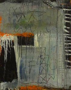 """Symbolikon"", von AJAR 2014, Öl auf Leinwand, Höhe: 50 cm, Breite: 40 cm, Preis: CHF 330."