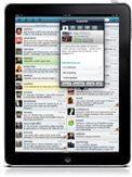 Hootsuite is my Twitter tool of choice and the iPad app is like a hybrid of the iPhone one and the desktop version. I like having the columns available to me on tabs. Ease of use is high.