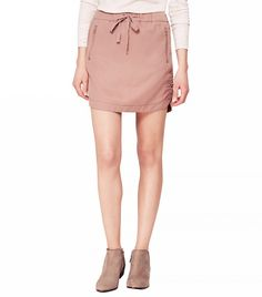 Lou & Grey Silky Washed Sportif Mini Skirt ($45)in French Mauve  Sporty meets girly.