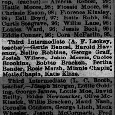 Reno Gazette-Journal, 30 Mar 1889, Sat, Main Edition  Gertrude Buncel (Gertie) makes honor roll