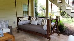 *Guaranteed to make you spend more time enjoying your outdoor living space*  The Seaside Bed Swing is our most popular porch swing, it is our spin