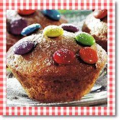 Cup cake με καραμελάκια σμάρτις - Γλυκές αμαρτίες