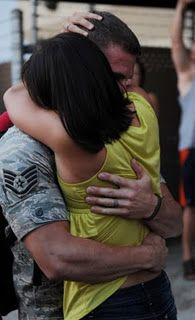 So much love in one embrace.  - MilitaryAvenue.com