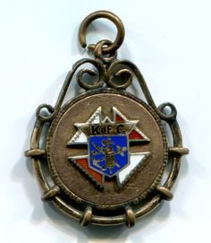 Vintage Knights of Columbus Pendant Watch Fob Pin Charm Medal 2 Sided Knights Of Columbus, Pendant Watch, Selling On Ebay, Wwii, Pocket Watch, Bracelet Watch, Faith, Charmed, Jewels