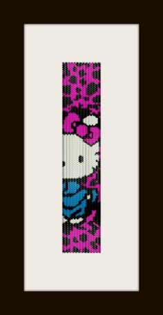 PDF Hello Kitty 1 pattern bracelet in peyote stitch by monjka