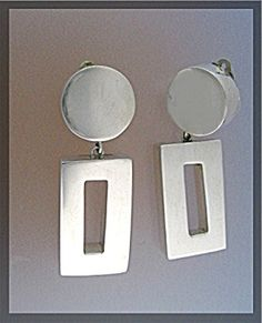 BRENDA SCHOENDELD Sterling Silver  Clip Earrings (Image1)