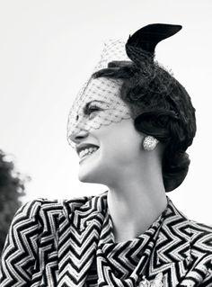 Andrea Riseborough as Wallis Simpson. Photograph by Tom Munro