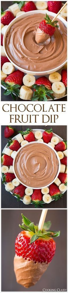 Chocolate Fruit DipI'm a huge fan of fruit dips, or any dip for that matter and since we've got one more party to be had this year on New Year's Eve I deci