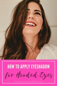 Super easy makeup tricks to make your hooded eyes appear more vibrant and glamorous. Eyeshadow For Hooded Eyes, How To Apply Eyeshadow, Simple Makeup Tips, Easy Makeup, Makeup Tricks, Super Easy, Brows, Vibrant, Glamour
