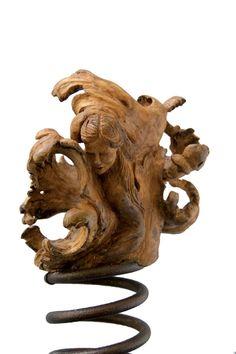 Art - Enrica Barozzi's wood sculpture - Driope - cm 55x21